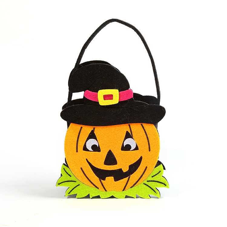 Cheap Price Creative Design Party Halloween Decorative Felt Basket For Candy